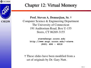 Chapter 12:  Virtual Memory