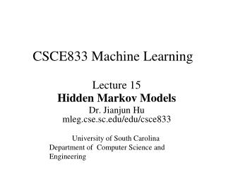 CSCE833 Machine Learning