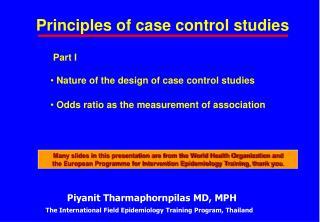Principles of case control studies