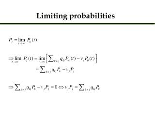 Limiting probabilities