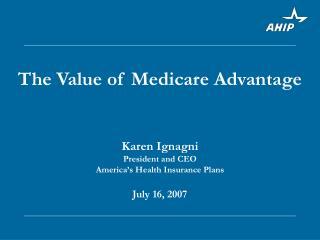 The Value of Medicare Advantage