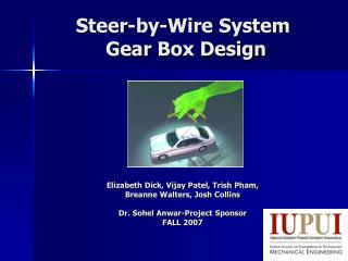 Steer-by-Wire System  Gear Box Design
