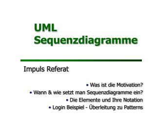 UML Sequenzdiagramme