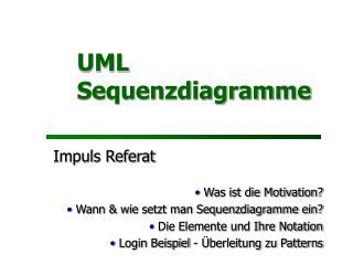 UML Sequenzdiagramme
