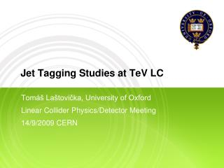 Jet Tagging Studies at TeV LC