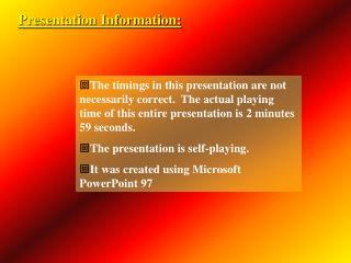 Presentation Information: