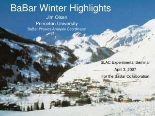 BaBar Winter Highlights