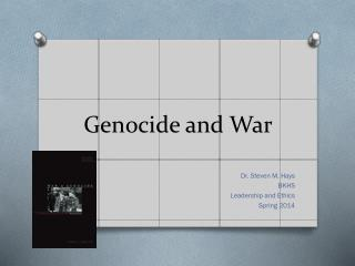 Genocide and War