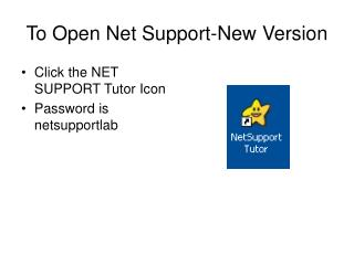 To Open Net Support-New Version