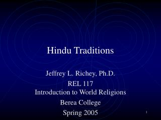 Hindu Traditions