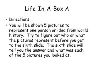 Life-In-A-Box A