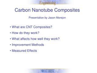Carbon Nanotube Composites Presentation by Jason Morejon