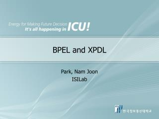BPEL and XPDL