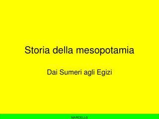 Storia della mesopotamia