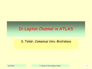 Di-Lepton Channel in ATLAS