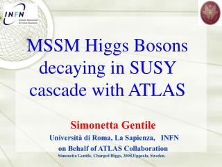 MSSM Higgs Bosons decaying in SUSY cascade  with ATLAS