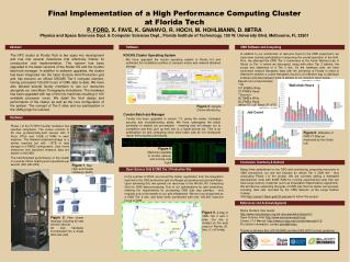 Final Implementation of a High Performance Computing Cluster at Florida Tech