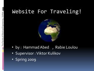 Website For Traveling!