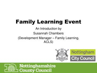 Family Learning Event