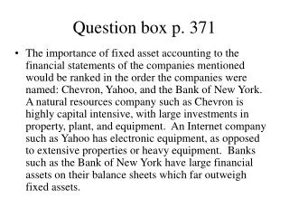 Question box p. 371