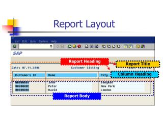 Report Layout