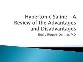 Hypertonic Saline Resuscitation