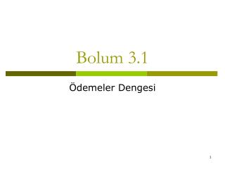 Bolum 3.1