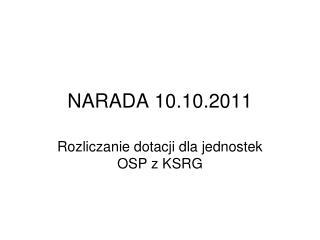 NARADA 10.10.2011