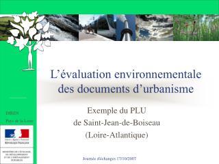 L'évaluation environnementale  des documents d'urbanisme