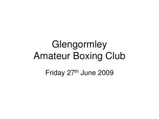 Glengormley  Amateur Boxing Club
