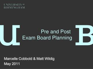 Pre and Post Exam Board Planning