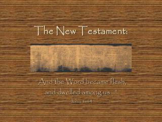 The New Testament: