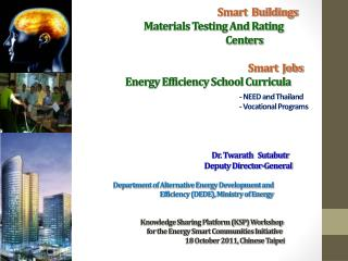 Smart Buildings: 	Materials Testing And Rating Centers (SB-2)