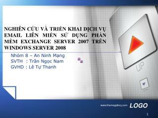 Nhóm 8 – An Ninh Mạng SVTH  : Trần Ngọc Nam GVHD : Lê Tự Thanh