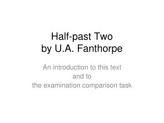 Half-past Two by U.A. Fanthorpe