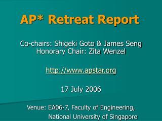 AP* Retreat Report