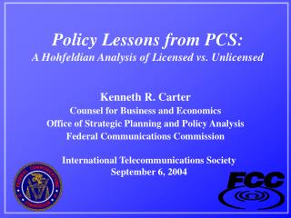Policy Lessons from PCS: A Hohfeldian Analysis of Licensed vs. Unlicensed