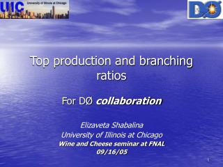Top production and branching ratios