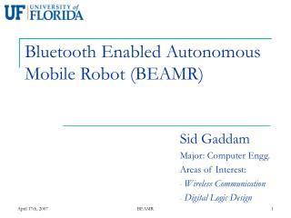 Bluetooth Enabled Autonomous Mobile Robot (BEAMR)