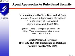 Agent Approaches to Role-Based Security