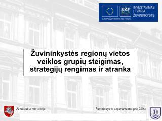 Žuvininkystės regionų vietos veiklos grupių steigimas, strategijų rengimas ir atranka