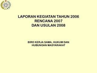 Kegiatan Tahun 2006