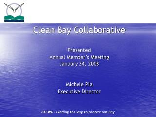 Clean Bay Collaborative Presented Annual Member's Meeting January 24, 2008 Michele Pla