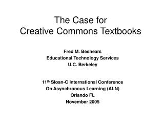 The Case for Creative Commons Textbooks