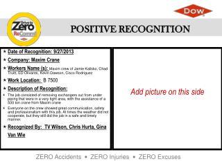 Date of Recognition: 9/27/2013 Company: Maxim Crane