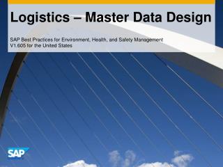 Logistics – Master Data Design