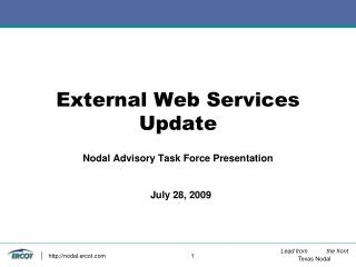 External Web Services  Update