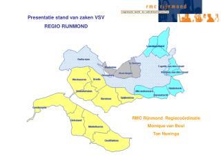 Presentatie stand van zaken VSV REGIO RIJNMOND