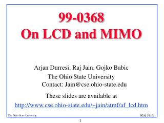 99-0368 On LCD and MIMO