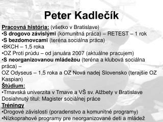 Peter Kadlečík